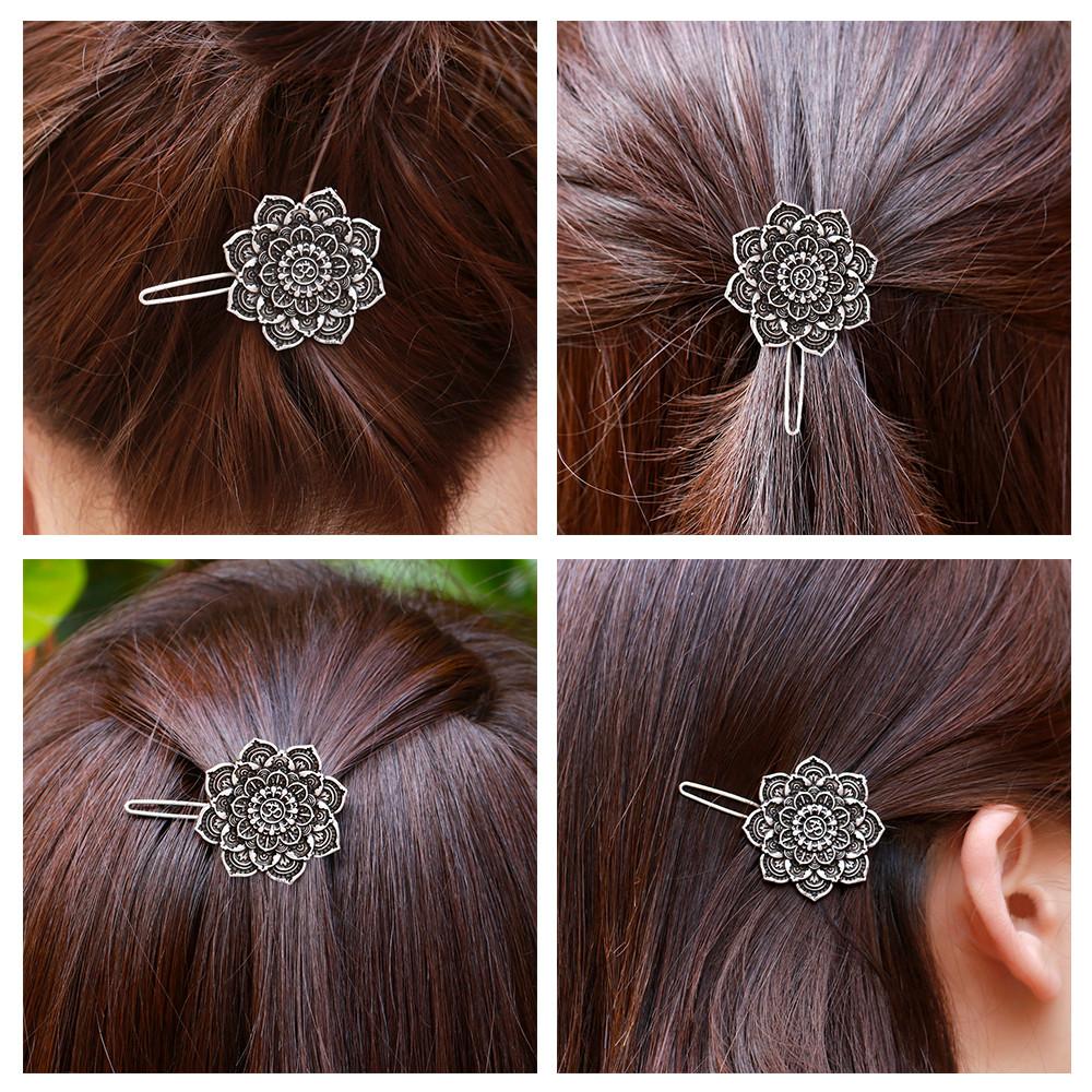[해외]MYAROMA 알아보기 여성 절묘한 꽃 헤어 클립 빈티지 레트로 헤어 그물 머리 장식 액세서리 쥬얼리/MYAROMA FINDINGS Women Exquisite Flower Hair Clip Vintage Retro Hairgrips Hair Decoration