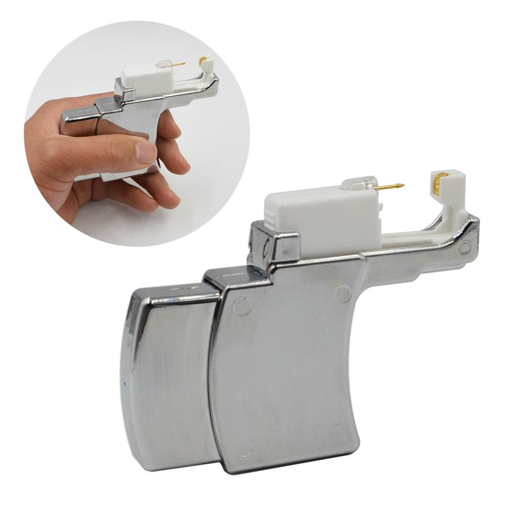 [해외]전문 귀 스터드 피어싱 계기 시스템 건 도구 안전 귀걸이 건 장치 간편한 귀고리 장비/Professional Ear Stud Piercing Instrument System Gun Tools Safety Earring Gun Device Easy Ear Pier