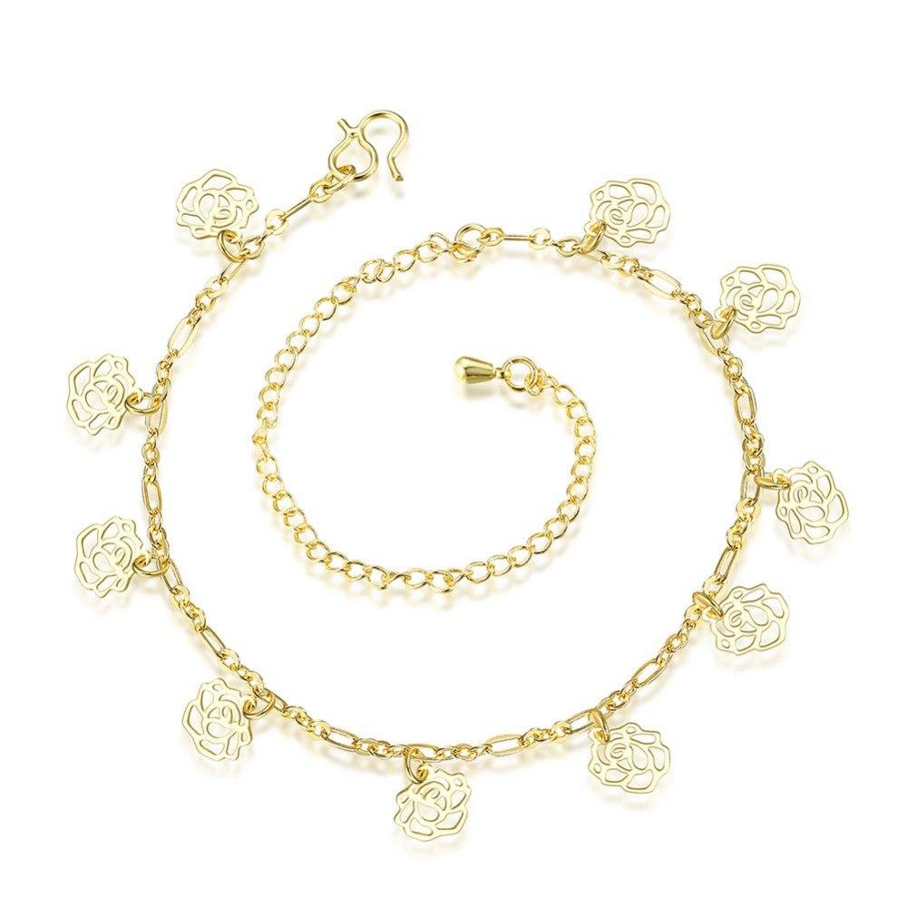 [해외]공장 가격 고품질 보석 925 은색 유럽과 미국의 패션 별자리 발목, 중공 작은 꽃 anklets/Factory price high quality jewelry 925 silver European and American fashion constellation a