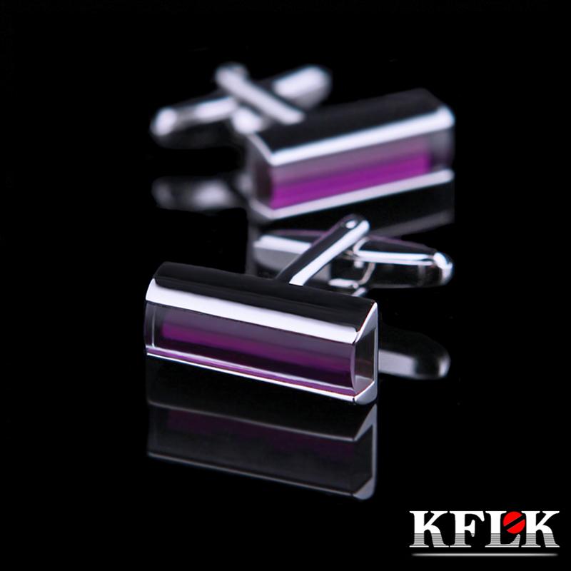 [해외]KFLK 쥬얼리 셔츠 커프스 단추 브랜드 패션 퍼플 크리스탈 럭셔리 커프스 단추 단추 결혼식/KFLK Jewelry shirt cufflinks for mens Brand Fashion Purple Crystal Luxury Cuff link Button  We
