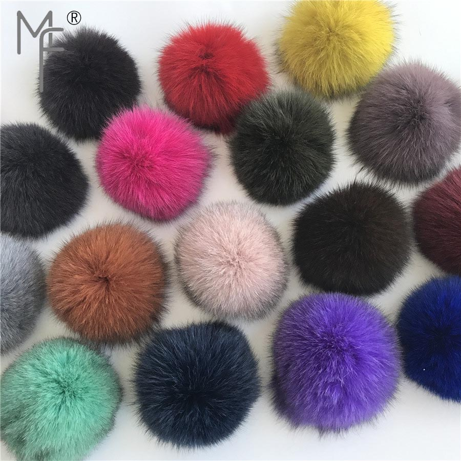 [해외]매직 퍼 - 10cm 3.9inch 2PC DIY 리얼 폭스 모피 포옴 볼 뜨개질을모자 DIY 펜던트 액세서리/Magicfur - 10cm 3.9inch 2PC DIY Real Fox Fur Pom Poms Ball for Knitting Hat DIY Pend