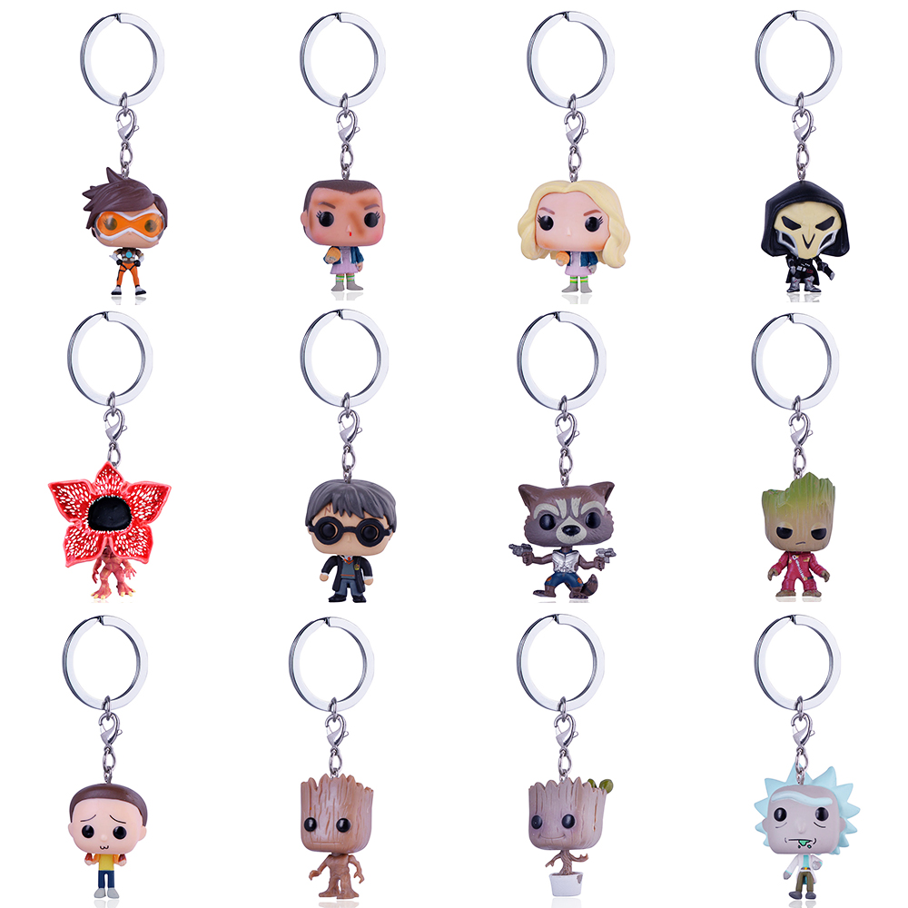 [해외]Funko Pop Keychain Overwatch 마블 릭과 마틴 키 체인 영화 애니메이션 키 링 Daenerys Targaryen Figure 키즈 토이/Funko Pop Keychain Overwatch Marvel rick and morty Key cha