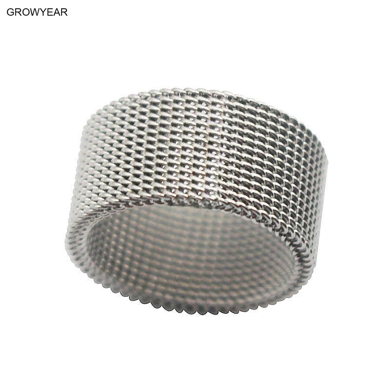 [해외]작은 스테인레스 스틸 체인 반지 여자 남자 실버 컬러 패션 쥬얼리 반지 크기 7 9 11 10 6 8/Tiny Stainless Steel Chain Ring Women Men Silver Color Fashion Jewelry Rings Size 7 9 11