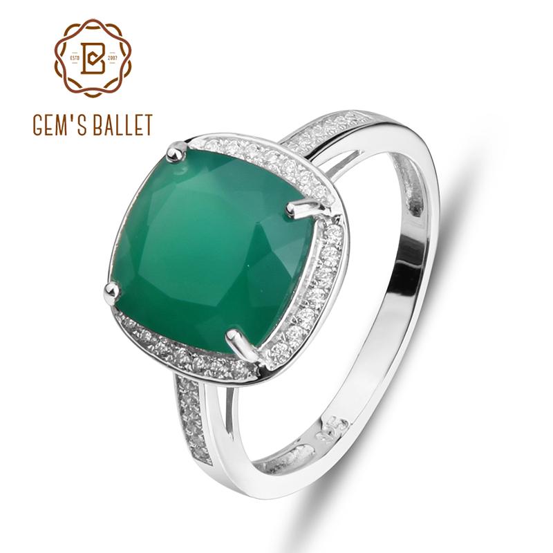 [해외]보석 및 발레 천연 녹색 마노 반지  925 스털링 실버 고급 보석 쥬얼리 웨딩 약혼 반지 새로운/Gem&s Ballet Natural Green Agate Rings Genuine 925 sterling silver Luxury Fine Jewelry Woma
