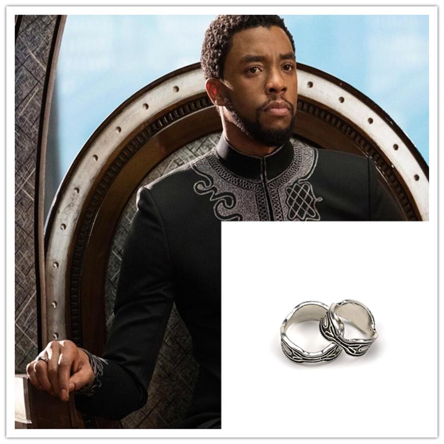 [해외]WAN JIE SHI PIN 2018 뉴 와칸다 킹 링 Wakanda T & Challa 블랙 팬더 링 /WAN JIE SHI PIN 2018 New Wakanda King ring Wakanda T&Challa Black Panther Ring  Dro