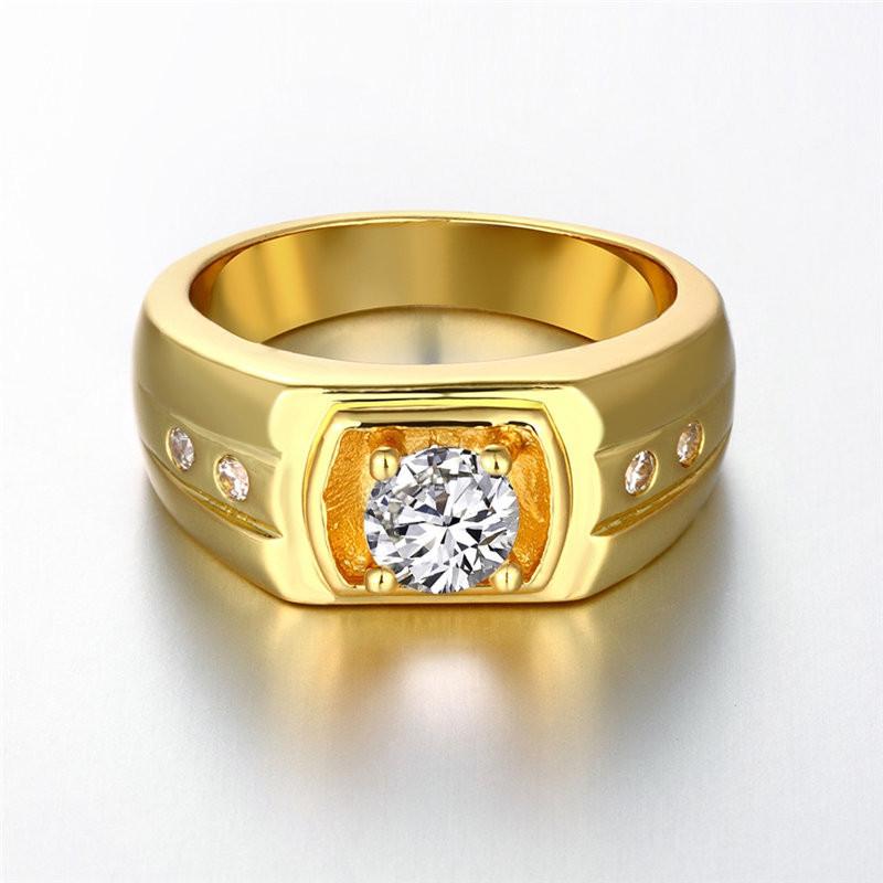 [해외]패션 파티 골드 지르콘 쥬얼리 남자 반지 브랜드 주얼리 골드 컬러 남성 링 남성 링 Aneis Anillos INALIS R141/Fashion Party Gold Zircon Jewelry Men ring Brand Jewellery gold color Rin