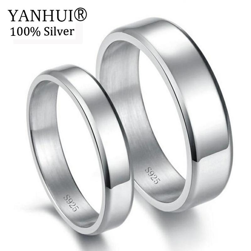 [해외]YANHUI 오리지널 퓨어 925 실버 결혼 반지 연인 패션 드레스 액세서리 커플 선물 쥬얼리 약혼 반지 세트 JA008/YANHUI Original Pure 925 Silver Wedding Rings For Lovers Fashion Dress Accesso