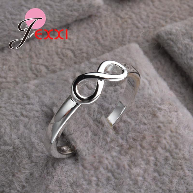 [해외]JEEXI 큰 승진 925  무한대 반지 보석 유행 교전 Anillos 신부 결혼 반지 여자를 위해/JEEXI Big Promotion 925 Sterling Silver Infinity Rings Jewelry Fashion Engagement Anillos