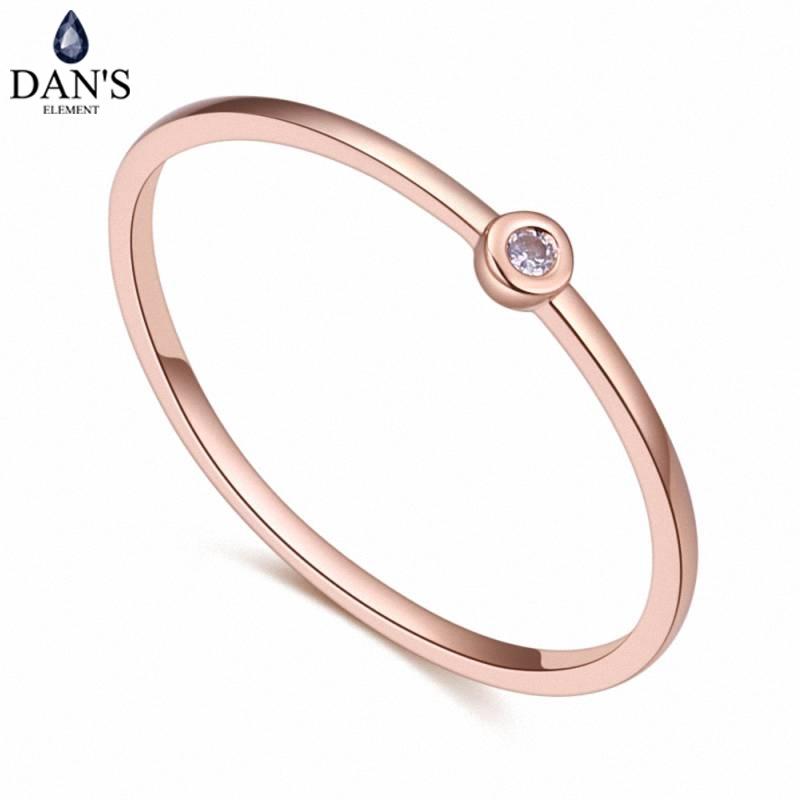 [해외]DAN & S 요소 브랜드 진짜 AAA 지르코니아 마이크로 상감 장미 여성을골드 컬러 반지 파티 발렌타인 선물 129820/DAN&S Element Brand Real AAA Zirconia  Micro Inlays Rose Gold Color Ring