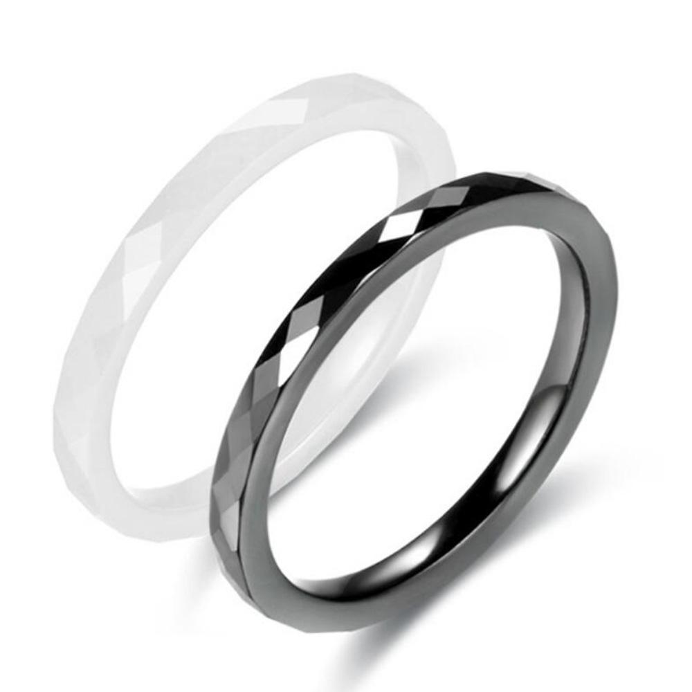 [해외]패션 라이트 블랙 화이트 단순 컷 여성 반지 쥬얼리에 대한 세라믹 반지 Womn 웨딩 쥬얼리 반지/Fashion Light Black White Simple Cut Ceramic Ring For Woman  Jewelry Without Scratches Womn