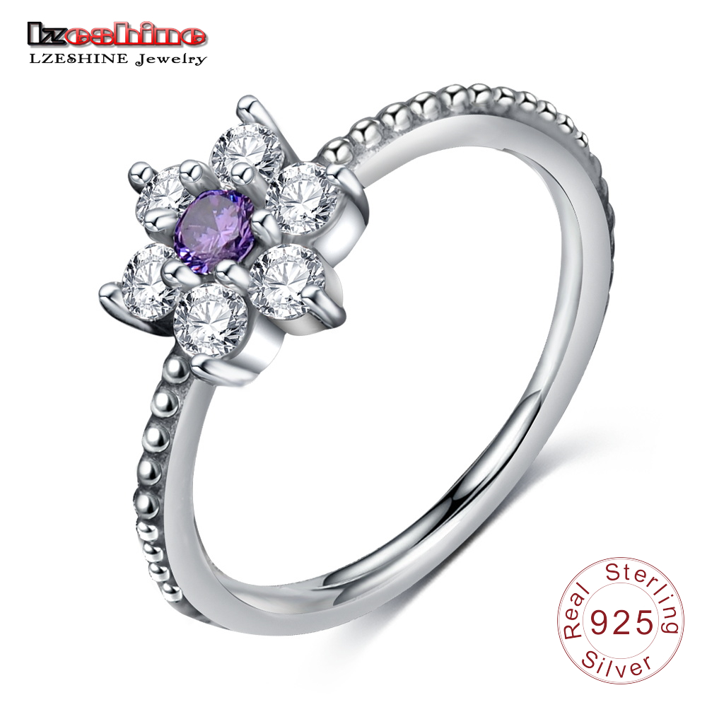 [해외]LZESHINE 럭셔리 칵테일 반지 925 스털링 실버 꽃 영원 ringPurple 여성을컬러 스톤 패션 주얼리 PSRI006/LZESHINE Luxury Cocktail Ring 925 Sterling Silver Flower Eternity ringPurpl