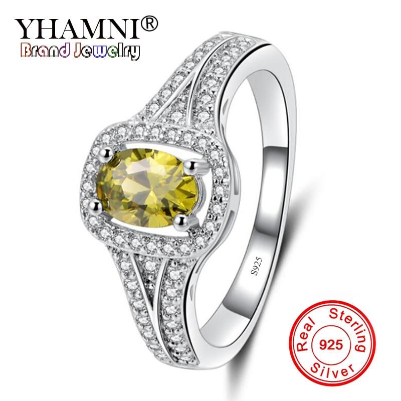 [해외]YHAMNI New Fashion Wedding purple/Olive Color AAA CZ Zircon Ring 100% 925 Sterling Silver Rings For Women Luxury Jewelry YQ-J199/YHAMNI New Fashio