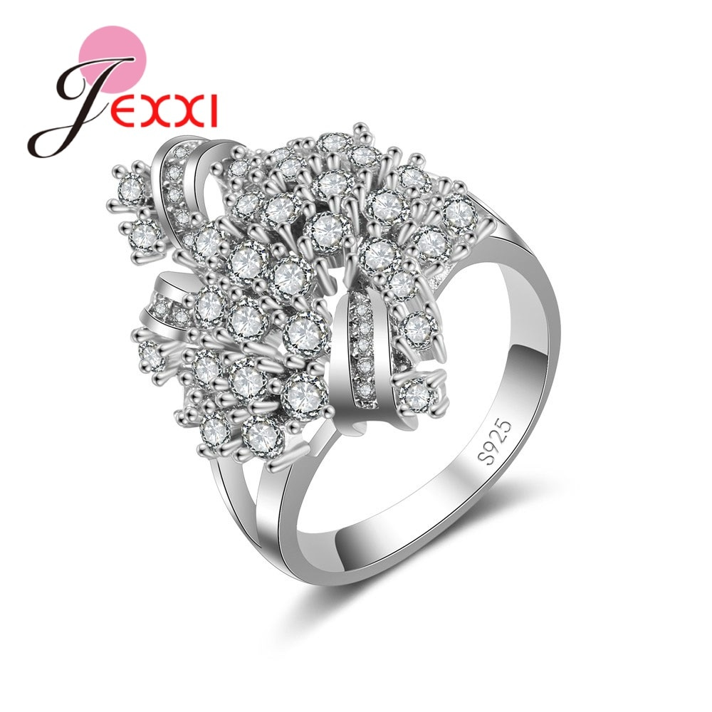 [해외]JEXXI Fashion Luxury Charm Vintage Hot Elegant 925 Sterling Silver AAA Austrian Cubic Zirconia Ring For Woman Wedding Jewelry/JEXXI Fashion Luxury