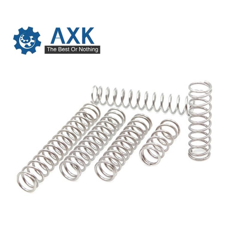 [해외]50pcs/Lot 0.8*5*10-50 Small Coil Compression Spring,Stainless Steel Springs,Small Spot Micro Compression Spring For 3D Printer/50pcs/Lot