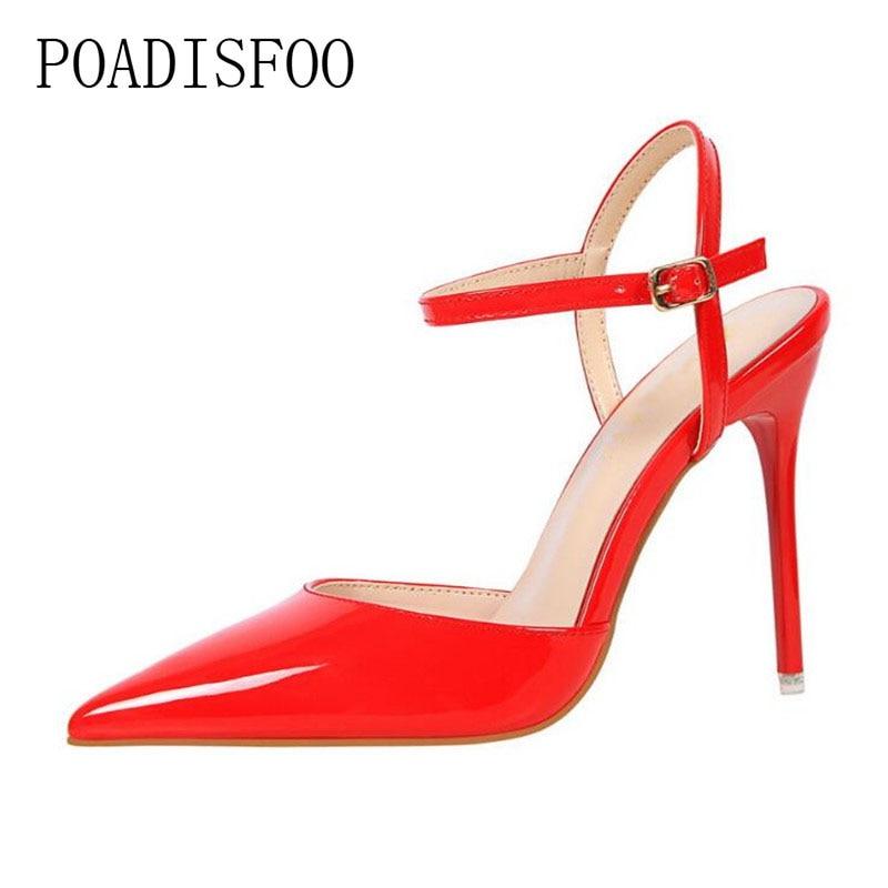 [해외]LTARTA  2019 fashion Thin Heels Hollow super High heel shoes Pumps shoes Sexy Pointed toe rivet women Shoes .DS-86-1/LTARTA  2019 fashion Thin Hee