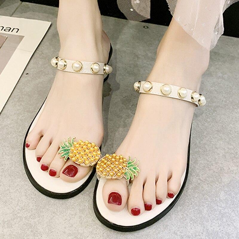 [해외]Summer Women Pumps Pineapple Beads Platform Mules Flip Flops High Heels Rubber Ladies Shoes Party Sandals Sandalias Mujer 1963W/Summer Women Pumps