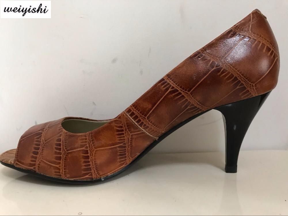 [해외]패션 여성 신발, 진짜 가죽