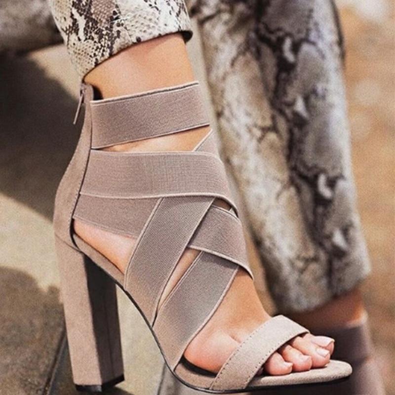 [해외]Qwedf 2019 새로운 스타일 숙 녀 여름 섹시 한 높은 뒤꿈치 파티 신발 숙 녀 오픈 발가락 여성 하이힐 샌들 sq-67