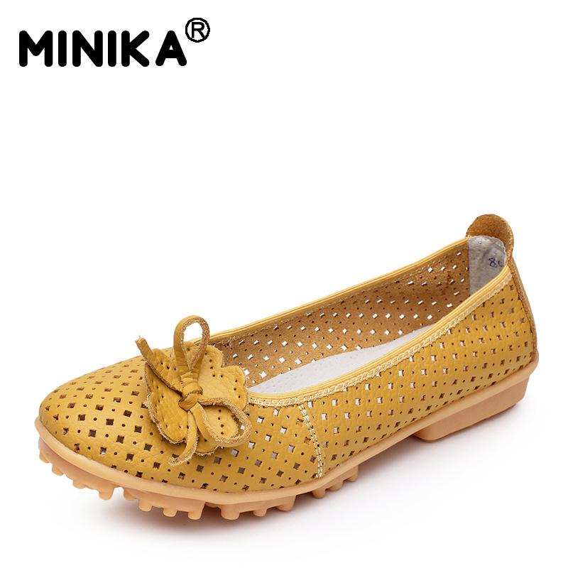 [해외]Women`s Casual Genuine Leather Shoes Woman Loafers Slip-On Female Flats Moccasins Ladies Driving Shoe Cut-Outs Mother Footwear/Women`s Casual Genu