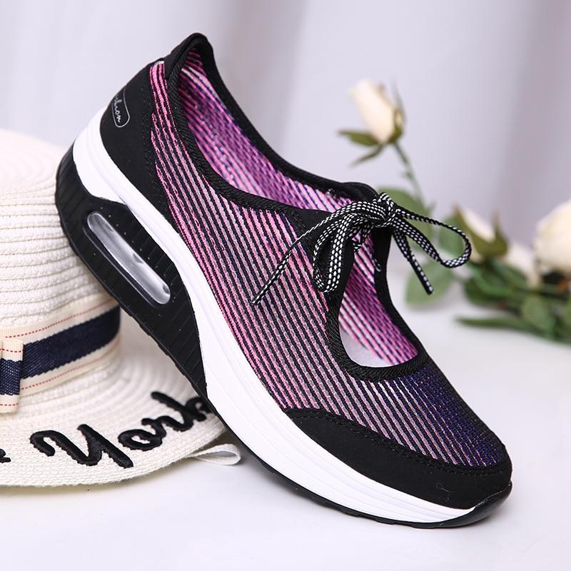 [해외]CYOSO Women`s Shoes Summer New 2019 Mesh Shoes Woman Platform Air Cushion Women Sneakers Mixed Colors Ladies Beach Shoes/CYOSO Women`s Shoes Summe