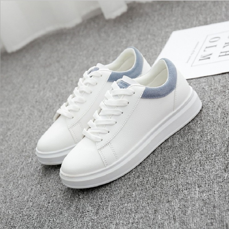 [해외]2019 Spring Women Casual Shoes  Autumn Women Sneakers Fashion Breathable PU Leather Platform White Women Shoes Soft Footwears/2019 Spring Women Ca