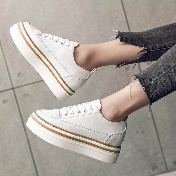 [해외]Women Shoes White Sneakers For Women Vulcanize Shoes Spring Autumn Krasovki Women Casual Shoes Basket Trainers Tenis Feminino/Women Shoes White Sn