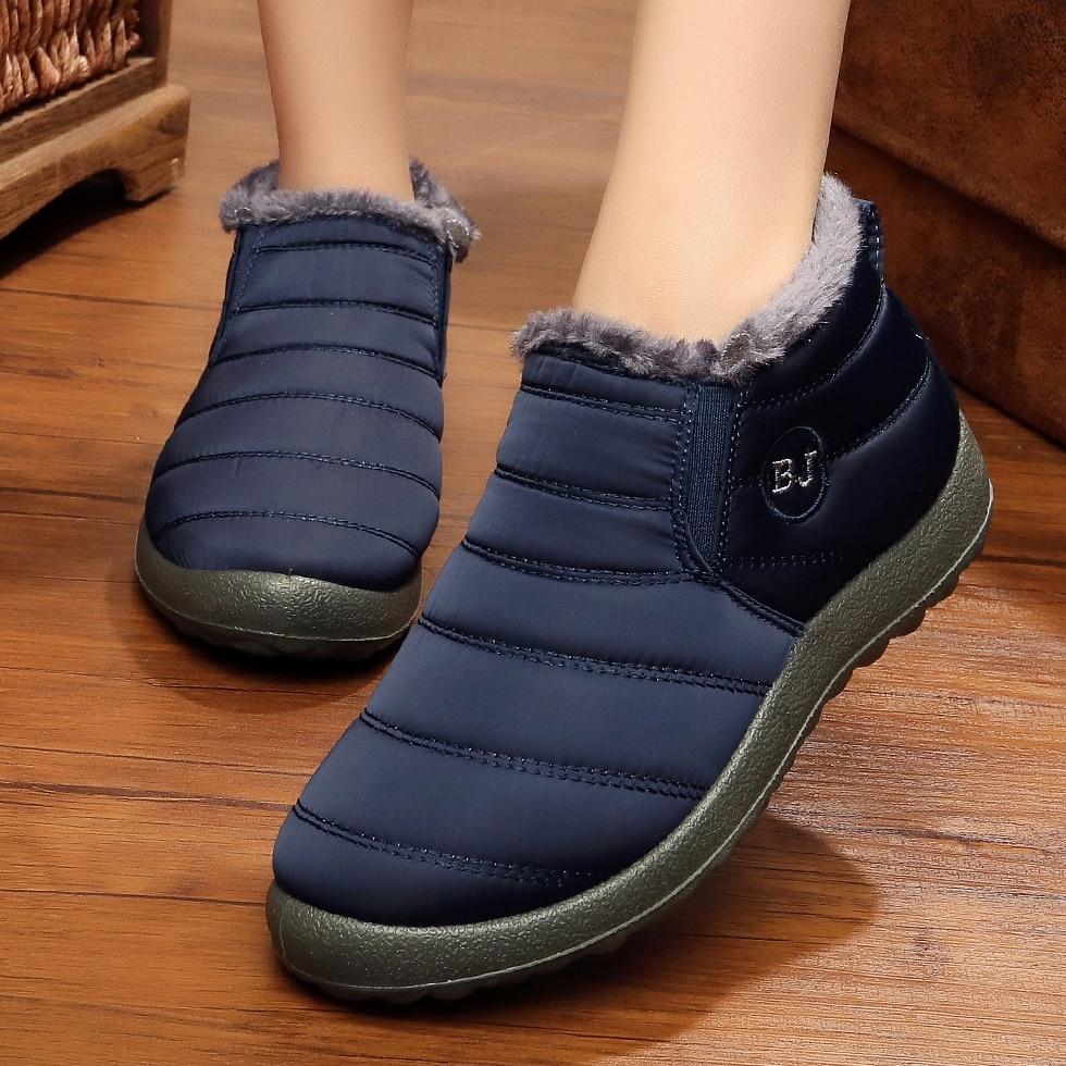 [해외]여성 부츠 겨울 신발 여성용 발목 botas mujer 방수 겨울 부츠 블랙 스노우 부츠 여성 겨울 운동화