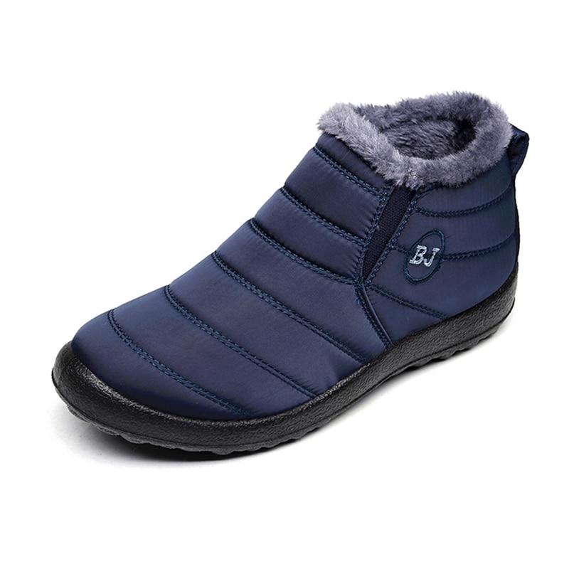 [해외]여성 부츠 2019 겨울 신발 여성 스노우 부츠 여성을위한 따뜻한 방수 발목 부츠를 유지 신발 chaussures femme
