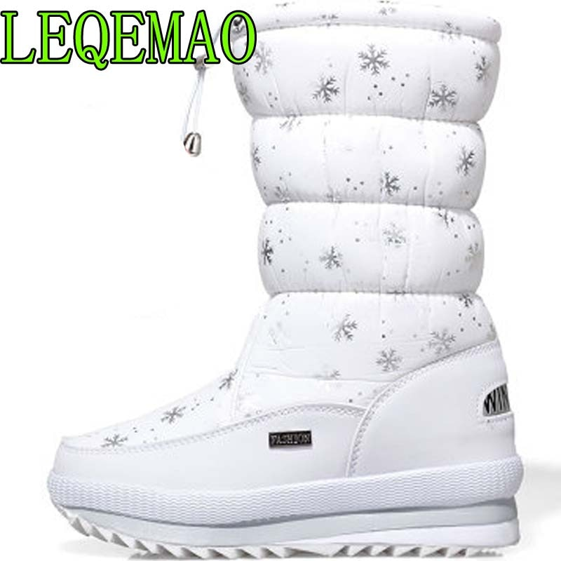 [해외]Women boots winter shoes women platform thick plush warm waterproof high snow boots botas mujer size 36-40/Women boots winter shoes women platform