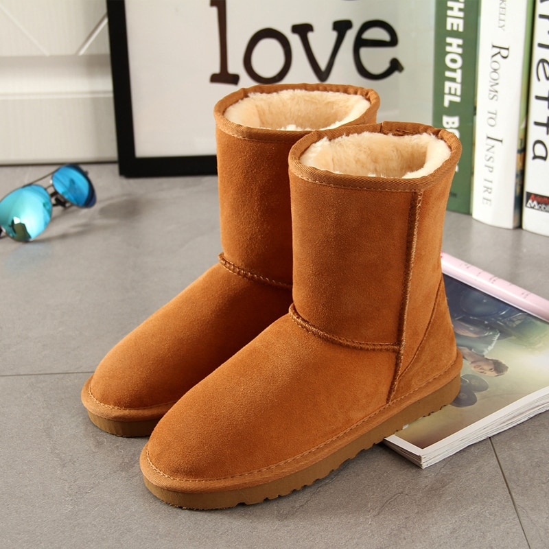 [해외]Begocool Classic Snow Boots For Women 100% Genuine Cowhide Leather Australia Warm Winter Boots Woman Shoes Botas Cheap/Begocool Classic Snow Boots
