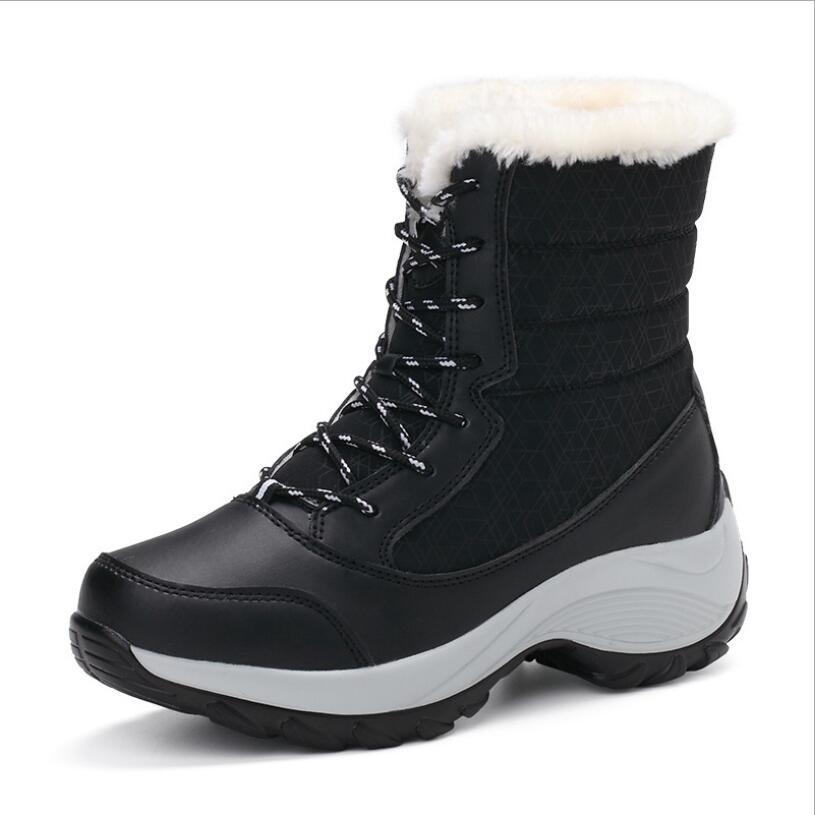 [해외]Cs698 2019 여성 신발 겨울 부츠 여성 따뜻한 눈 부츠 겨울 여성 따뜻한 신발을 유지 여성 mid-calf 플랫폼 부츠