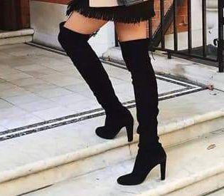 [해외]여성 무릎 높은 부츠 겨울 신발에 미끄러 져 얇은 하이힐 지적 발가락 모든 경기 여성 솔리드 컬러 부츠 크기 35-43/여성 무릎 높은 부츠 겨울 신발에 미끄러 져 얇은 하이힐 지적 발가락 모든 경기 여성 솔리드 컬러 부츠 크기 35-43