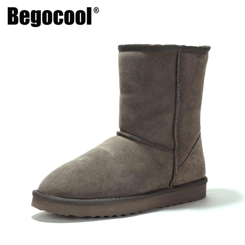 [해외]Begocool womens snow boots 100% 정품 쇠가죽 채찍으로 치다 가죽 호주 따뜻한 겨울 부츠 여성 신발 소녀 botas for cheap/Begocool womens snow boots 100% 정품 쇠가죽 채찍으로 치다 가
