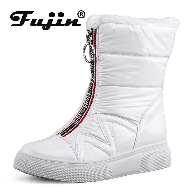 [해외]Fujin Snow Boots Women Winter Round Toe  Fashion Thick Bottom Plush Keep Warm Plush Leisure Breathable Women Boots/Fujin Snow Boots Wome
