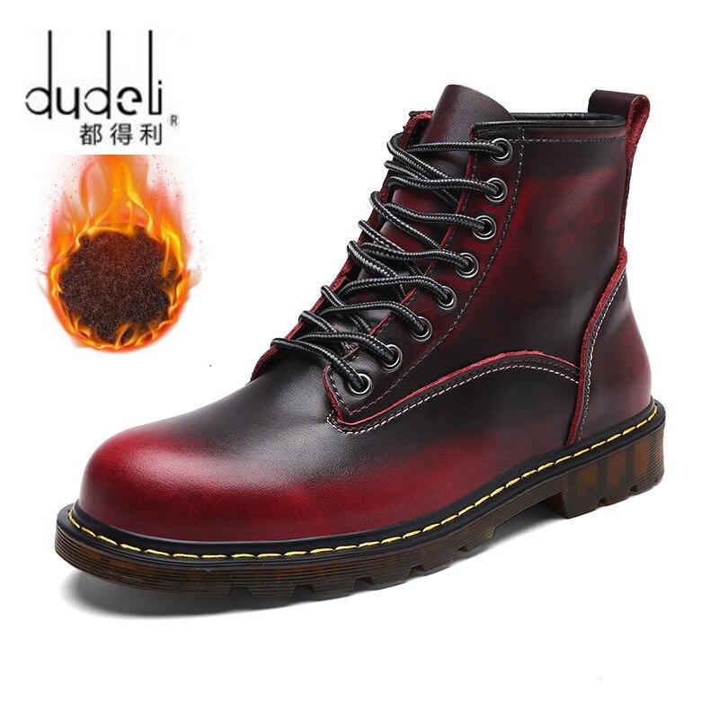 [해외]DUDELI New Male Fashion Ankle Boots Winter / Autumn men`s Motorcycle Man Boots men Boots Snow Boots Oxfords Couple Shoes/DUDELI New Male Fashion A