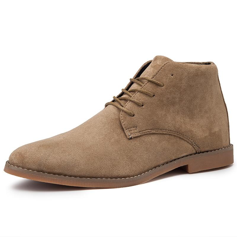 [해외]Brand Fashion Men Casual Autumn High Tops Boots Men Breathable Ankle Boots Quality Suede Work Shoes Motorcycle Boots Size 39-46/Brand Fa