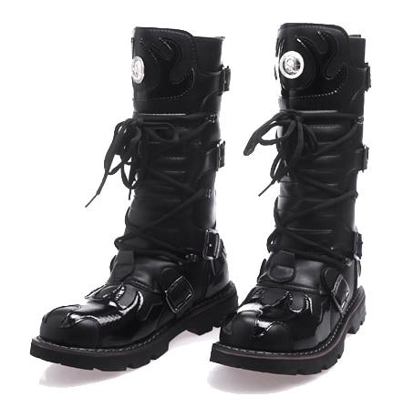 [해외]High Quality Genuine Leather Men high Boots Black Military Boots Tactical Boots Army Boots Men botas Leather Shoes Men Shoes/High Qualit