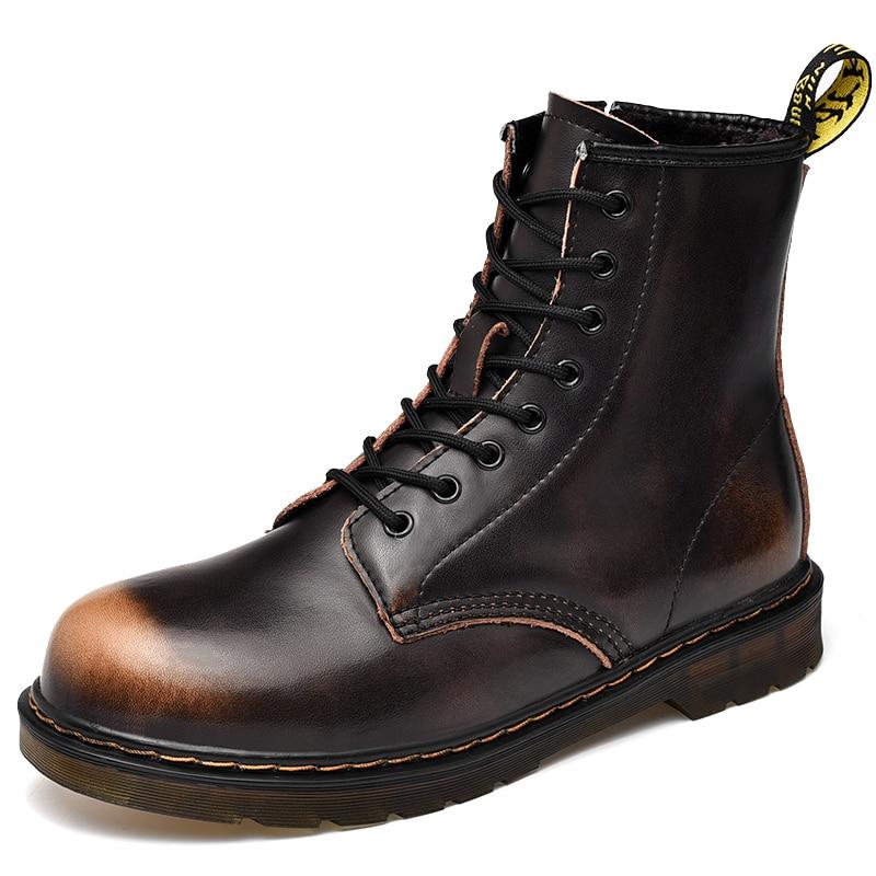 [해외]shoes man Men Boots Leather Boots Martin Boots Motorcycle Shoes Ankle Boots Men Martin Leather Shoes High Top Military/shoes man Men Boo