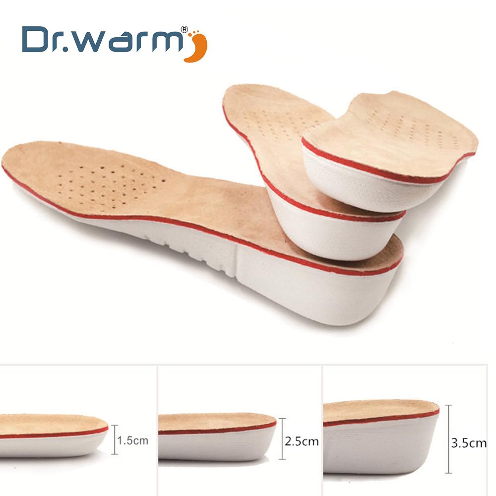[해외]Dr Warm Leather Insoles Height Increase insole Pigskin shoe pad inserts foot care pad Shoe accessories for shoes Men Women pad/Dr Warm Leather Ins
