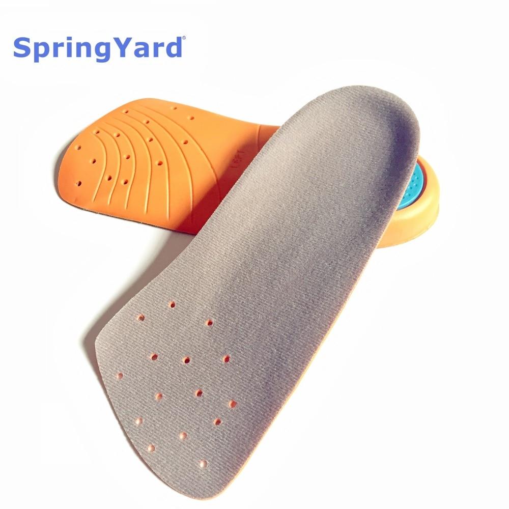 [해외]SpringYard PU Form Arch Support Shock Absorption Cushion Half Shoe Pad Running Sport Insoles for Shoes Women Men/SpringYard PU Form Arch Support S
