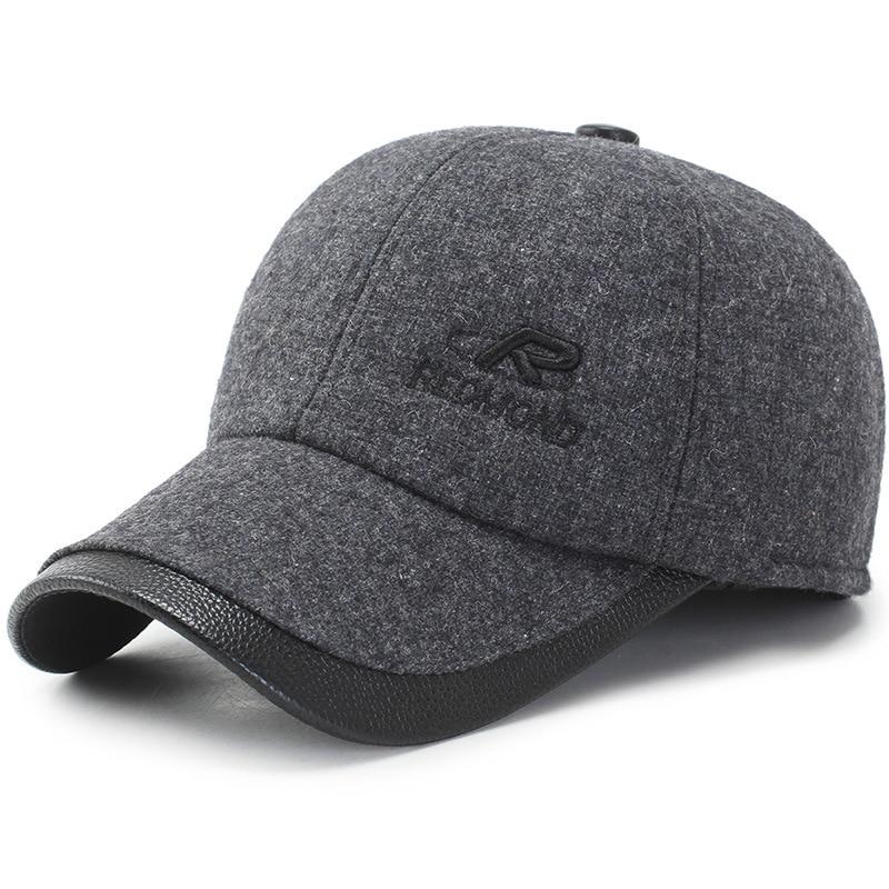[해외]Men Cotton Cap Autumn & Winter Fashion Outdoor Baseball Cap Mens Korean-style Windproof Warm Ear Protection Woolen Hat/Men Cotton Cap Au