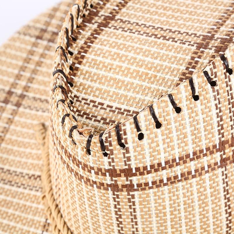 [해외]Europe And America Hat Men Knights Cap Western Cowboy Camouflage Cloth Hat Tour College Style Jazz Summer Grass Bowler Hat/Europe And Am