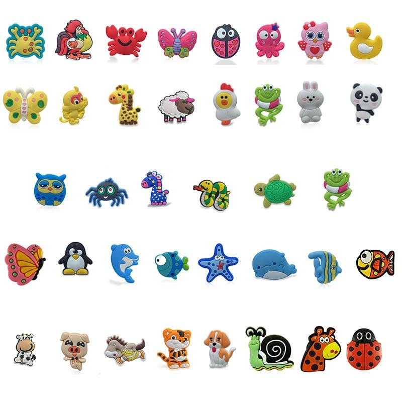 [해외]50pcs/lot Cute Animals PVC shoe charms shoe accessories DIY shoe decoration for croc jibz kids woman kawaii cute X-mas gift/50pcs/lot Cu