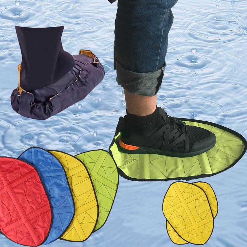[해외]Reusable Shoes Cover Hand Free Shoe Cover Durable Portable 2019 New Automatic Solid  Anti-Dirty Cloth Shoe Covers\n/Reusable Shoes Cover Hand Free