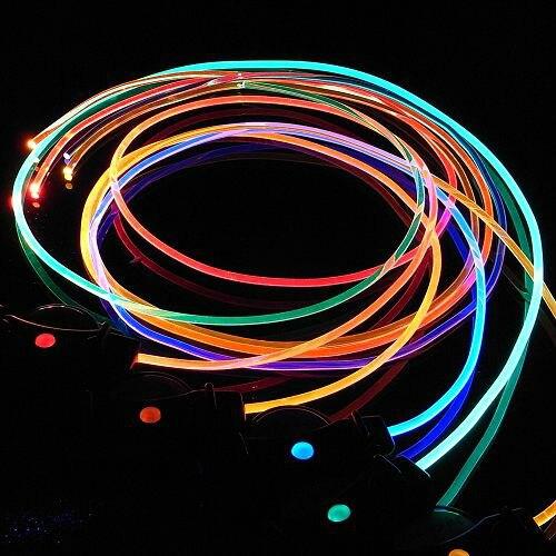 [해외]빛 LED 신발 끈 플래시 글로우 스틱 다채로운