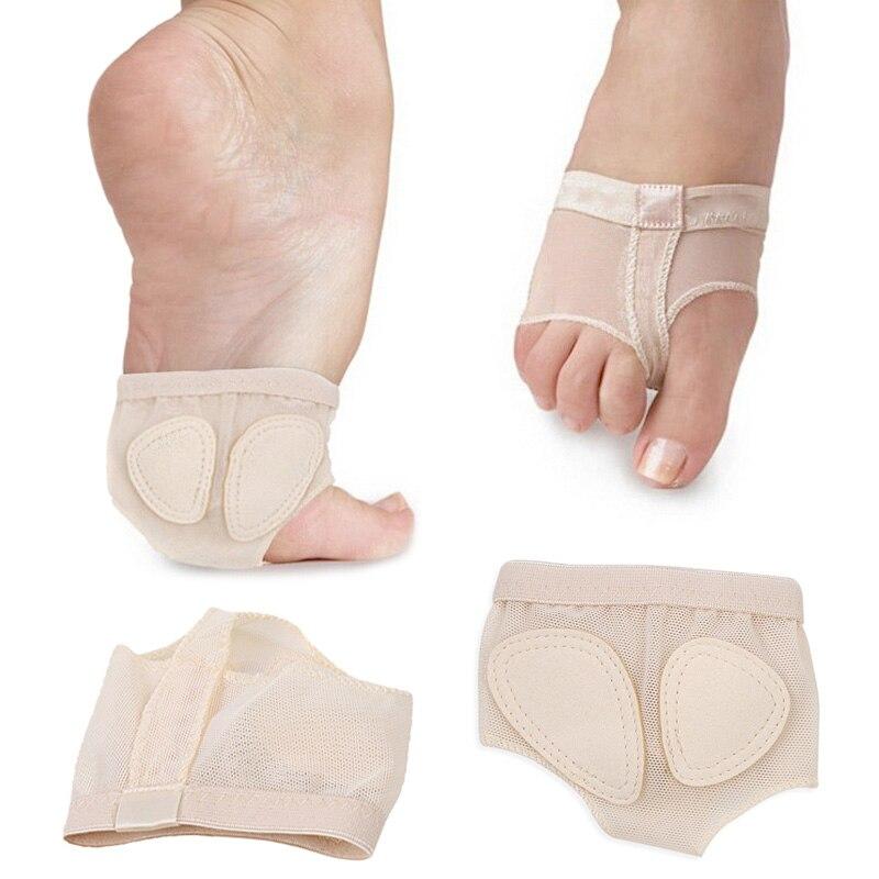 [해외]새로 1 쌍 소프트 솔 발 발레 커버 댄스 발 앞발 발가락 보호 발가락 패드 신발