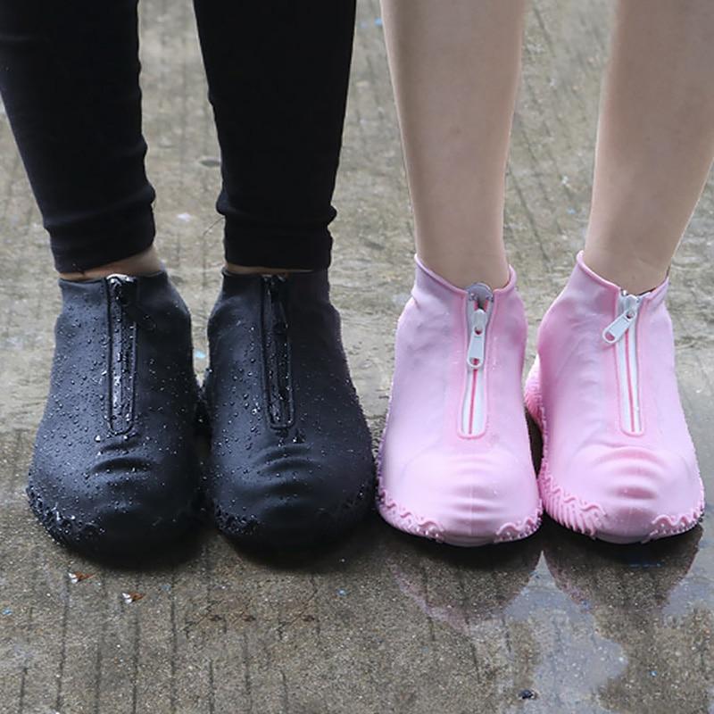 [해외]2020 봄 패션 재사용 가능한 신발 커버 방수 지퍼 커버 신발 남자/여자 레인 신발 커버 방수