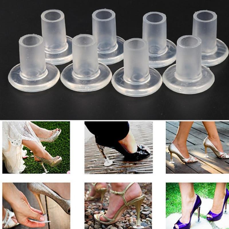 [해외]1 pair Women High Heel Protectors  Anti-slip PVC Latin Stiletto Dancing Covers Horseshoe Shape Shoes Heel Covers Stoppers Props/1 pair Women High