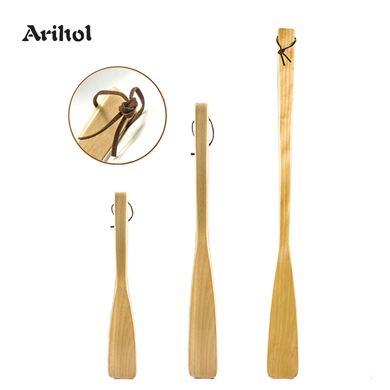 [해외]Wood Shoe Horn Long Handled Shoehorn for Men Women Kids Handle Shoe Spoon Shoe Lifter Wear Shoes Tool/Wood Shoe Horn Long Handled Shoeho