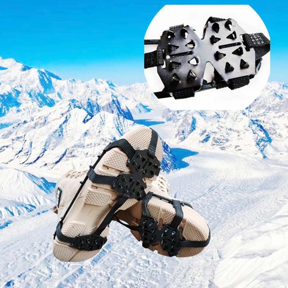 [해외]야외 등산 범용 겨울 스파이크 등산 하이킹 스노우 워킹 클리트 비 슬립 아이스 그리퍼 슈즈 크램폰 24 teeth/야외 등산 범용 겨울 스파이크 등산 하이킹 스노우 워킹 클리트 비 슬립 아이스 그리퍼 슈즈 크램폰 24 teeth